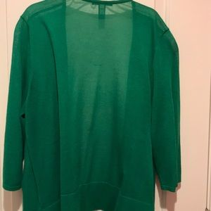 Green cardigan sweater from Chico's